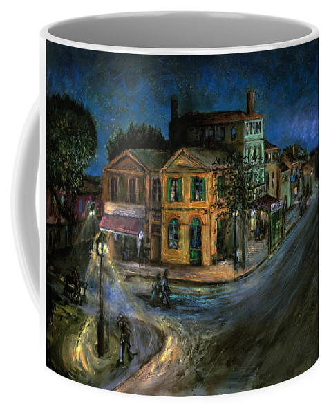 Arles Coffee Mug featuring the painting The Yellow House by Antonio Ortiz