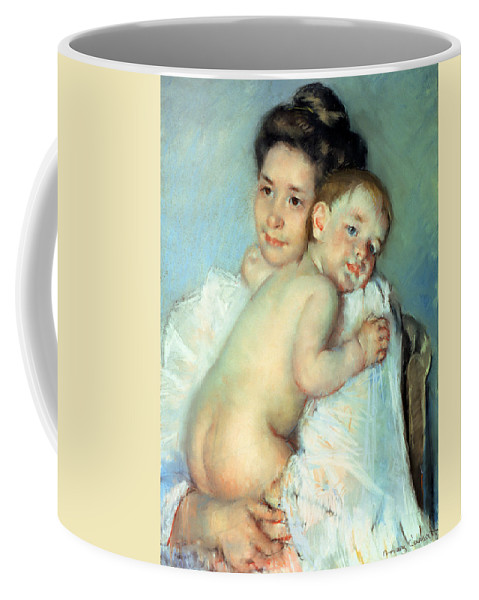 The Coffee Mug featuring the painting The Young Mother by Mary Stevenson Cassatt