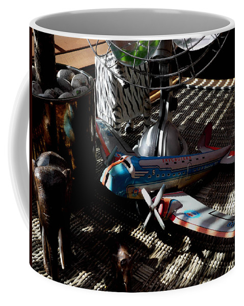 Still Life Coffee Mug featuring the photograph The Zebra In Colour by Charles Stuart