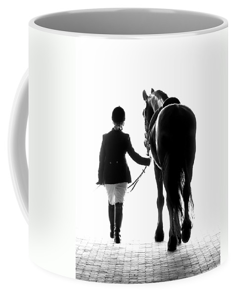 Horse Coffee Mug featuring the photograph Their Future Looks Bright by Ron McGinnis