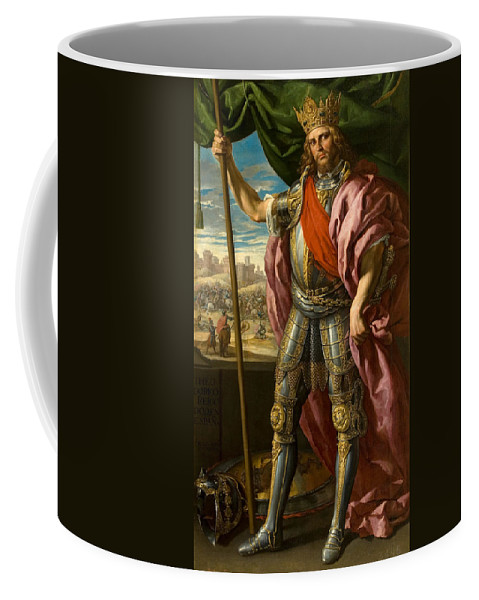 Felix Castello Coffee Mug featuring the painting Theodoric King Of The Goths by Felix Castello