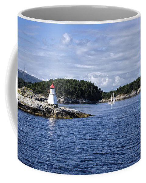 Lighthouse Coffee Mug featuring the photograph I'll Be There For You by Lucinda Walter