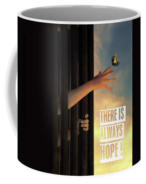 Hope Coffee Mug featuring the photograph There Is Always Hope by Jill Battaglia