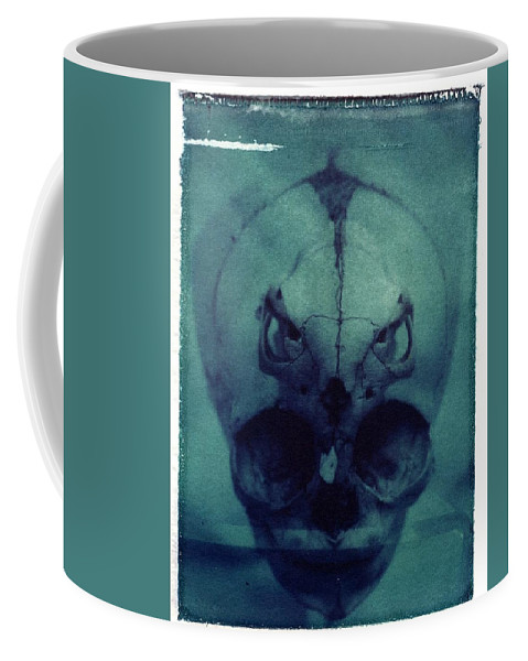 Skull Coffee Mug featuring the photograph There by Jane Linders
