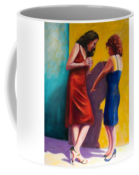 Figurative Coffee Mug featuring the painting There by Shannon Grissom