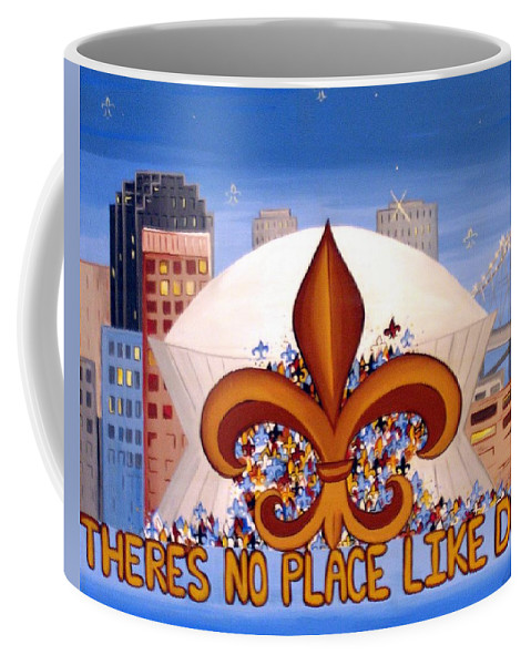 Superdome Coffee Mug featuring the painting There's No Place Like Dome by Valerie Carpenter