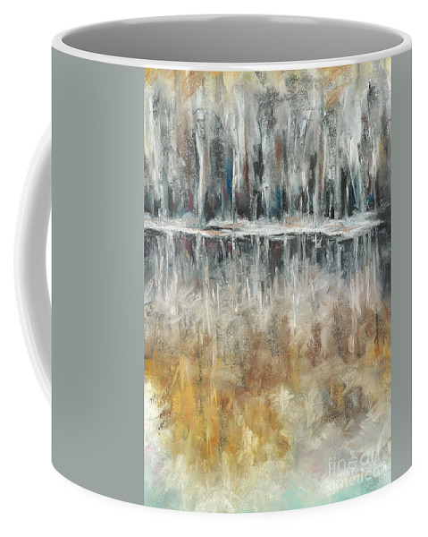 Trees Coffee Mug featuring the painting Theres Two Sides To Everything by Frances Marino