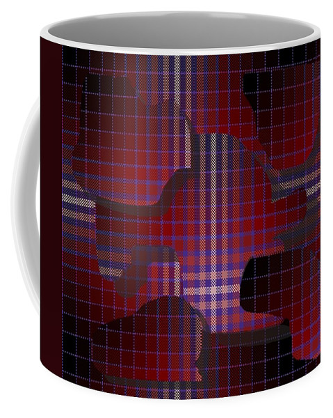 Digital Coffee Mug featuring the digital art These Pieces Dont Fit by Ron Bissett