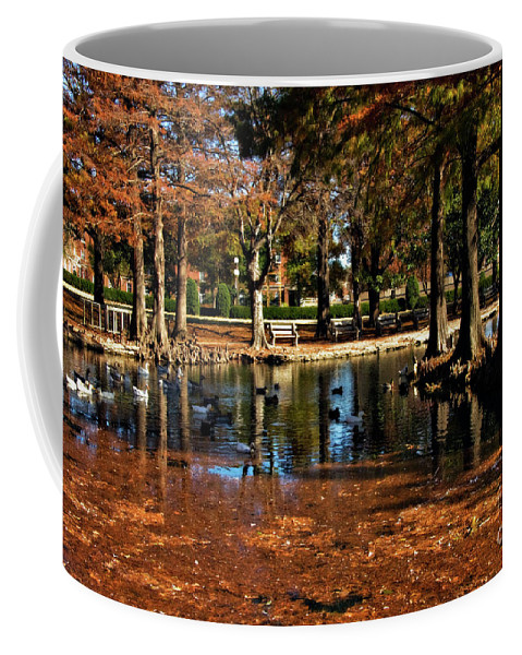 Autumn Coffee Mug featuring the photograph Theta Waterfowl by Lana Trussell