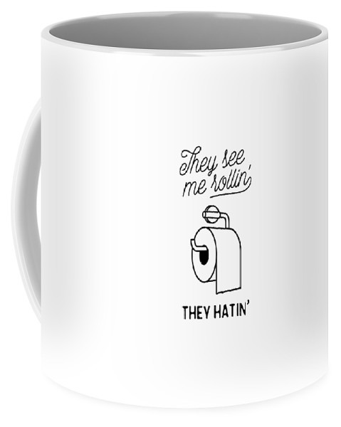Coffee Mug featuring the digital art They See Me Rollin' by The Crown Prints