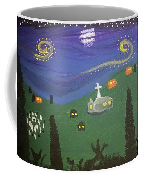 Stars Coffee Mug featuring the painting They Still Dance by Vale Anoa'i