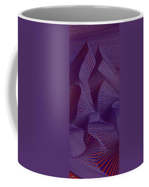 Dynamic Black And Good Night Coffee Mug featuring the painting Thgindoog by Douglas Christian Larsen