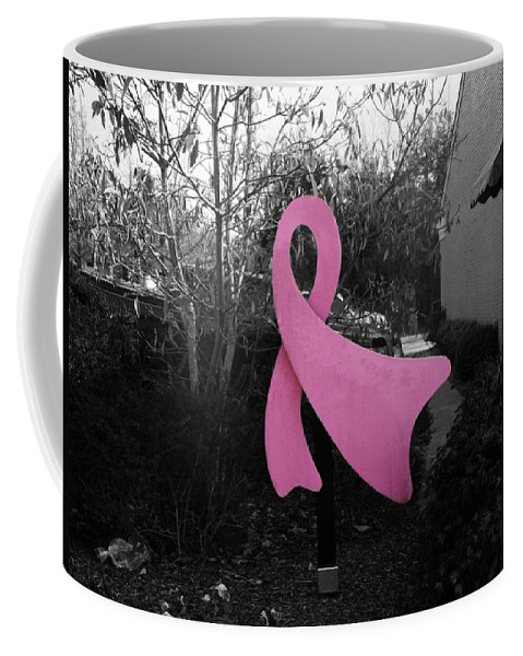 Breast Cancer Awareness Coffee Mug featuring the photograph Think Pink by Steve Cochran