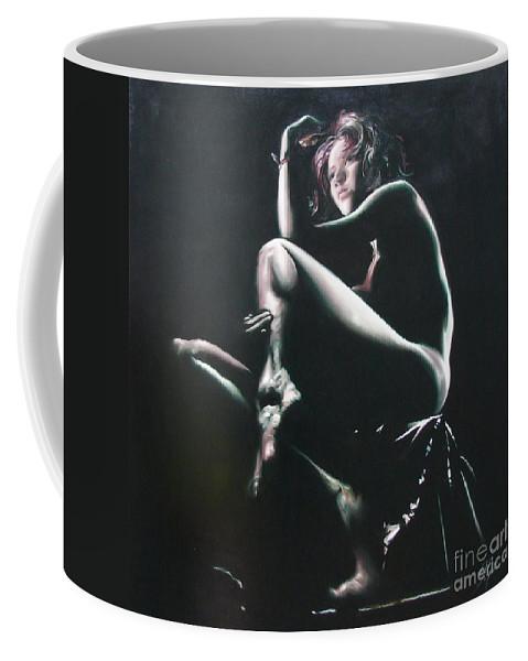 Ignatenko Coffee Mug featuring the painting Thinker by Sergey Ignatenko