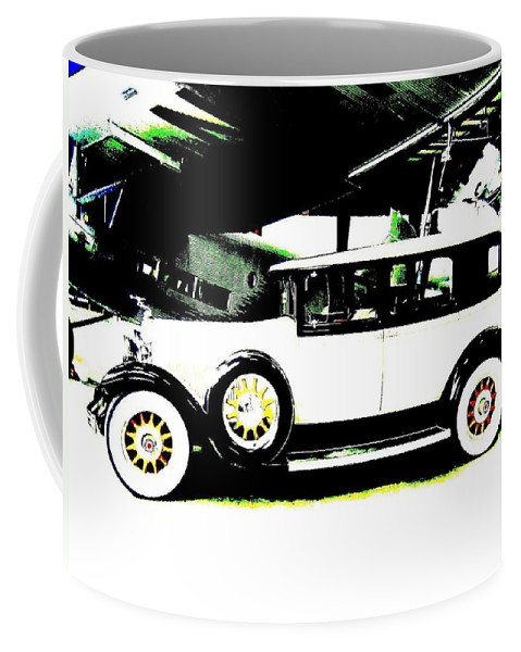 Packard Coffee Mug featuring the digital art Thirties Packard Limo by Will Borden