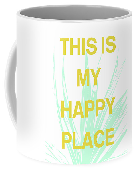 Succulent Coffee Mug featuring the digital art This Is My Happy Place- Art By Linda Woods by Linda Woods