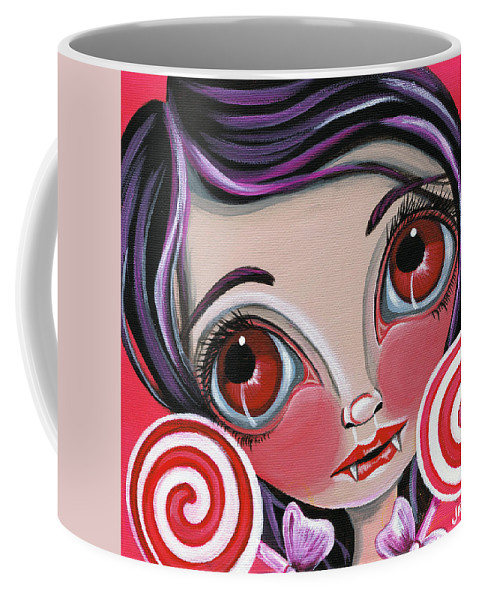 This Coffee Mug featuring the painting This Sucks by Jaz Higgins