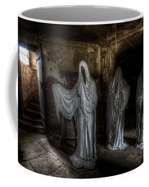 Ghostly Coffee Mug featuring the digital art This Way Please by Nathan Wright