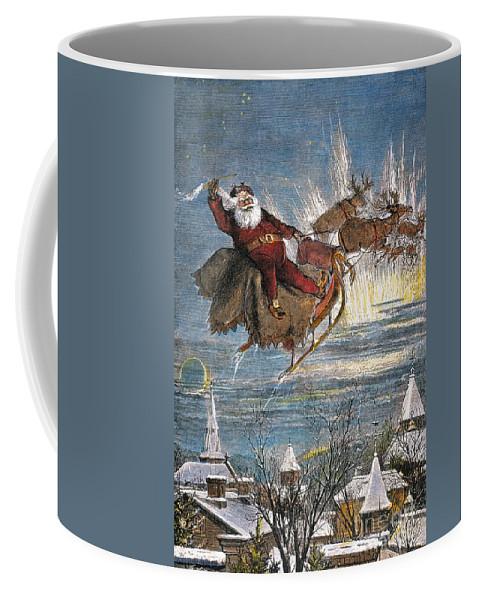 19th Century Coffee Mug featuring the photograph Thomas Nast: Santa Claus by Granger