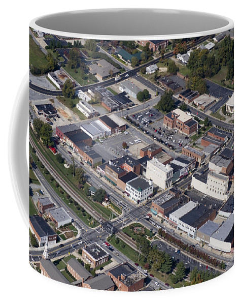 Thomasville Coffee Mug featuring the photograph Thomasville Nc Aerial by Robert Ponzoni