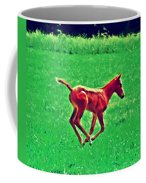 Philadelphia Coffee Mug featuring the photograph Thorobred by Bill Cannon