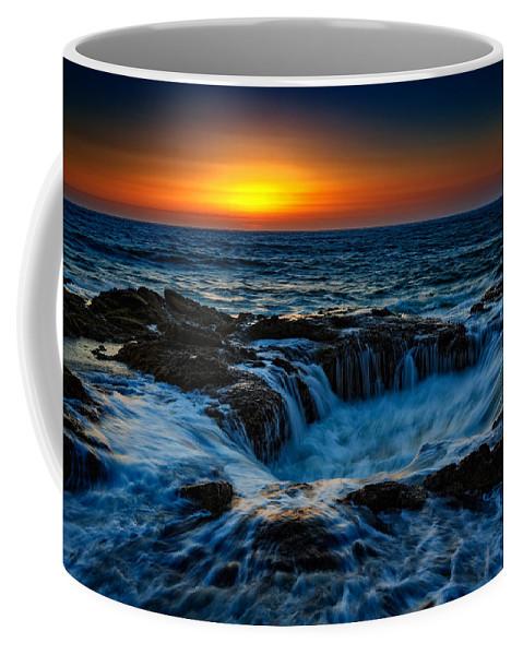 Oregon Coffee Mug featuring the photograph Thor's Well II by Rick Berk