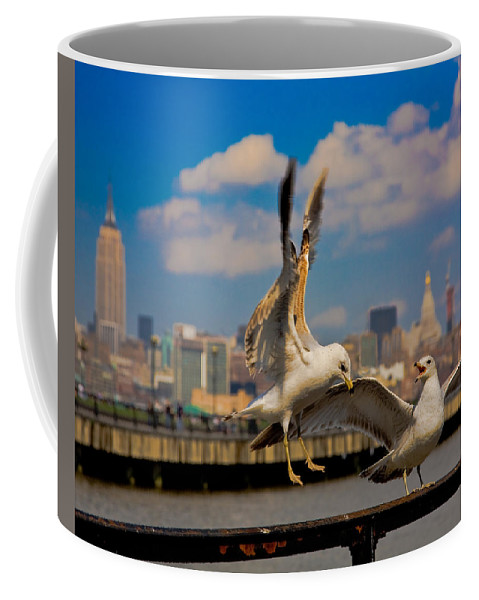 Gull Coffee Mug featuring the photograph Those Jersey Gulls by Chris Lord