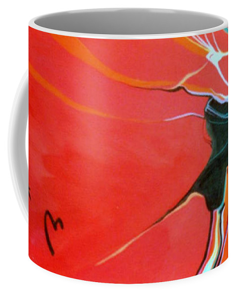 Anasazi Coffee Mug featuring the painting Those Who Came Before Us by Marlene Burns