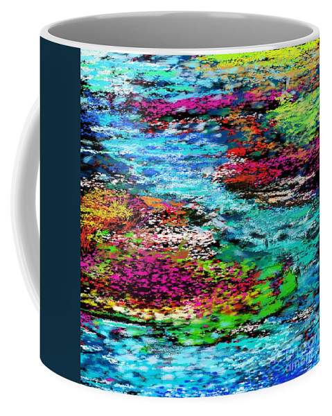 Abstract Coffee Mug featuring the digital art Thought Upon A Stream by David Lane