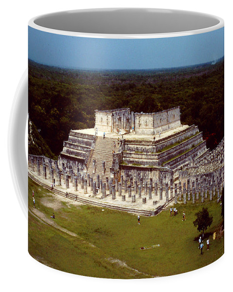Thousand Columns Coffee Mug featuring the photograph Thousand Columns Few Callers by Roy Anthony Kaelin