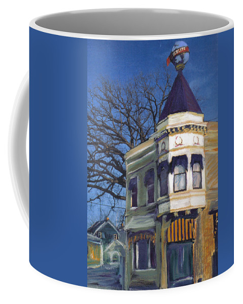 Miexed Media Coffee Mug featuring the mixed media Three Brothers by Anita Burgermeister
