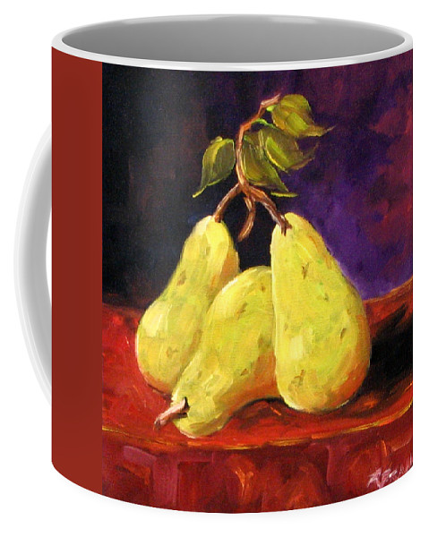 Art Coffee Mug featuring the painting Three Buddies by Richard T Pranke