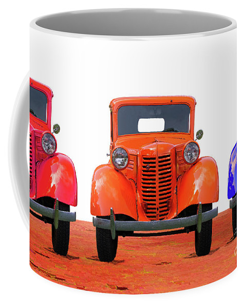 1938 Coffee Mug featuring the photograph Three Colored Cars by Nick Gray