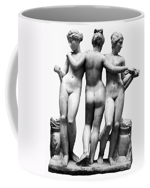 3rd Century B. C. Coffee Mug featuring the painting Three Graces by Granger