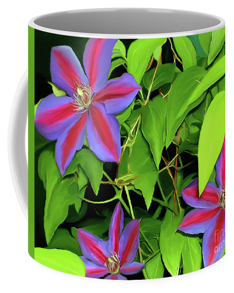 Mixed Media Art Coffee Mug featuring the painting Three Jacks by Patricia Griffin Brett