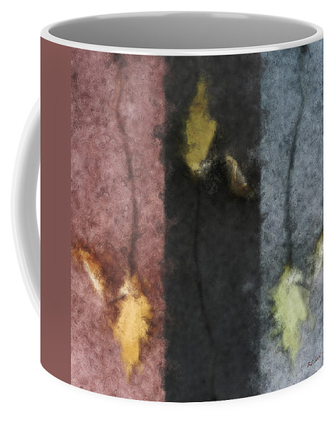 Impressionist Coffee Mug featuring the digital art Three Leaves by RC DeWinter