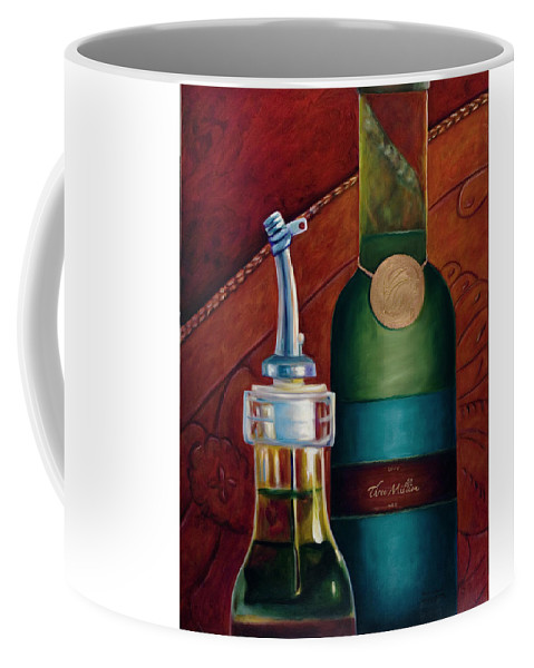 Olive Oil Coffee Mug featuring the painting Three Million Net by Shannon Grissom
