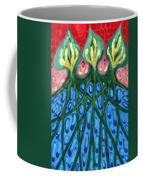 Colour Coffee Mug featuring the painting Three by Wojtek Kowalski