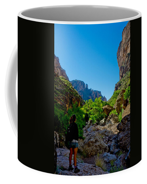 Superstition Mountains Coffee Mug featuring the photograph Threshold by Mumbles and Grumbles