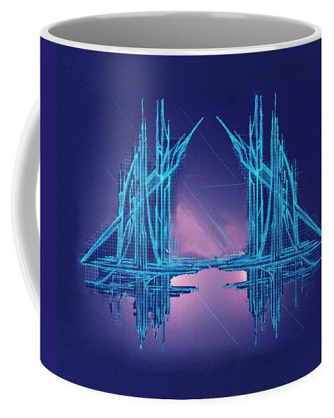 Abstract Coffee Mug featuring the digital art Threshold by Don Quackenbush