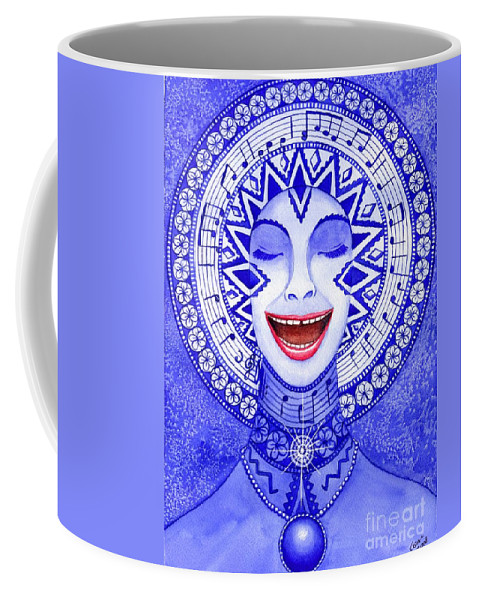 Chakra Coffee Mug featuring the painting Throat Chakra by Catherine G McElroy