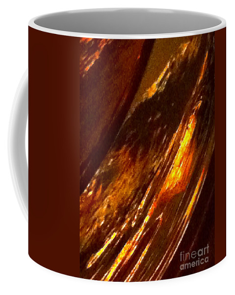 Abstract Coffee Mug featuring the photograph Through A Glass Darkly 3 Abstract by Ken Lerner