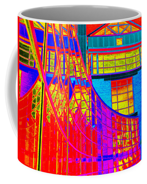 Experimental Photography Coffee Mug featuring the photograph Through The Kaleidoscope Wormhole by Rick Maxwell