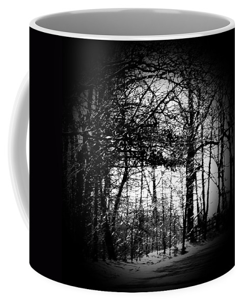 Trees Coffee Mug featuring the photograph Through the Lens- Black and White by Simply Summery
