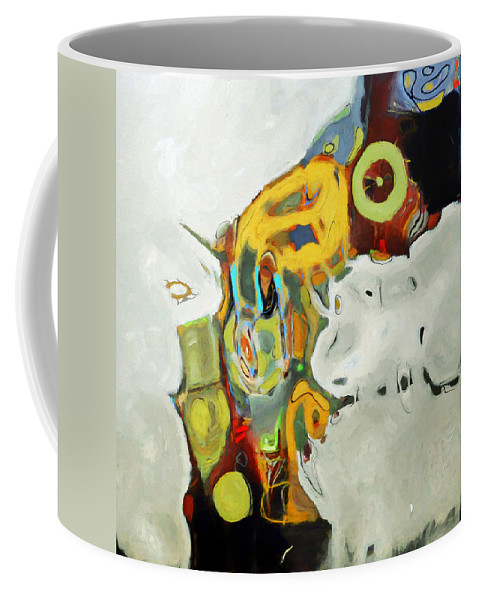 Abstract Coffee Mug featuring the digital art Through The Looking Glass by Ronald Bolokofsky
