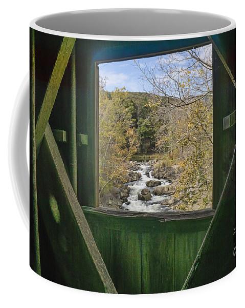 Creek Coffee Mug featuring the photograph Thru The Window by Scott Wood