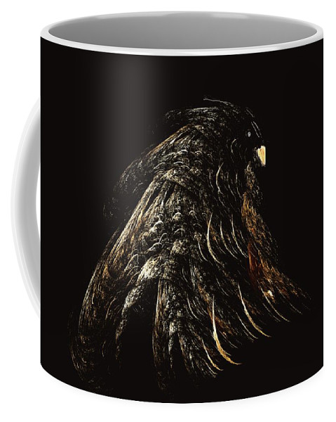 Abstract Digital Painting Coffee Mug featuring the digital art Thunder Bird by David Lane