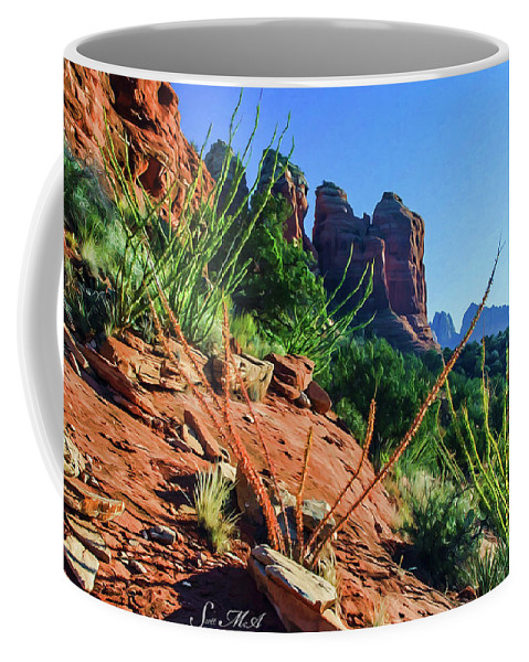 Sedona Coffee Mug featuring the photograph Thunder Mountain 07-006 by Scott McAllister