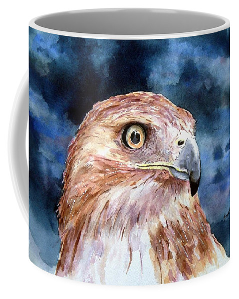 Bird Coffee Mug featuring the painting Thunder by Sam Sidders