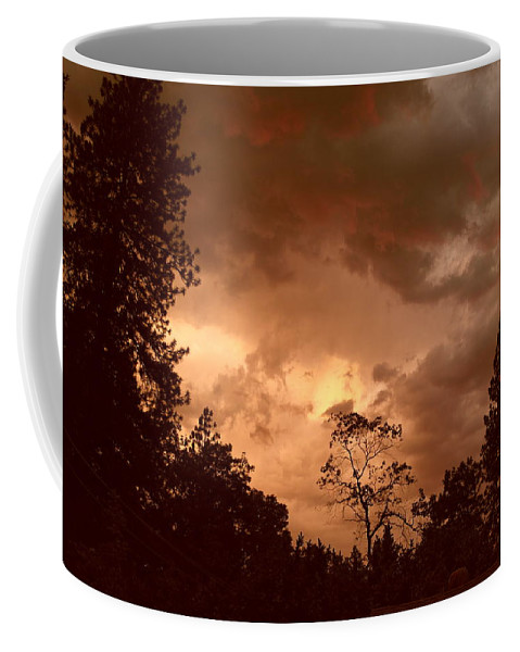 Thunderstorm Coffee Mug featuring the photograph Thunder Sunset by Michele Myers
